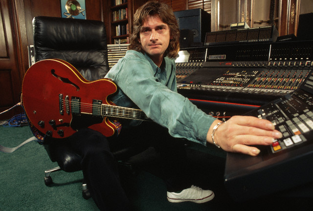 Mike Oldfield in a Recording Studio