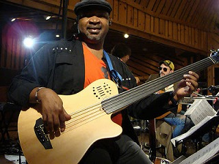 Andre Manga with his Godin Bass